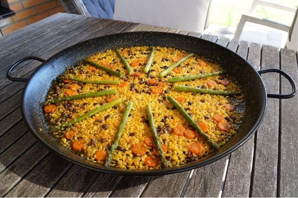 Receta paella de verduras